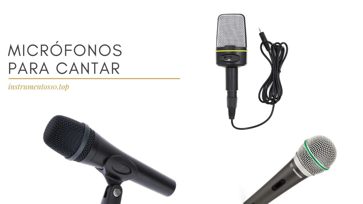microfonos para cantar